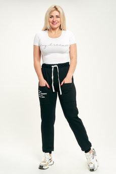 Женские черные спортивные брюки Трикотажница со скидкой