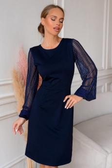 Новинка: темно-синее коктейльное платье Open Style